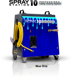 Ceiling Cleaning Equipment and Machines - SCS Spray Station 10 Blue Drip Model 100116