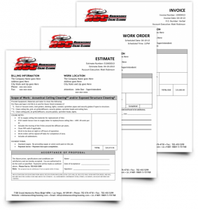Forms For Your Ceiling Cleaning or Specialty Cleaning Business