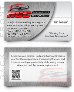 Business Cards For Your Ceiling Cleaning or Specialty Cleaning Business