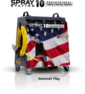 Ceiling Cleaning Equipment and Machines - SCS Spray Station 10 America Flag Model 100101