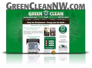 Website Design and Hosting for Green Clean NW