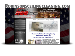 Website Design and Hosting for Robinsons Ceiling Cleaning